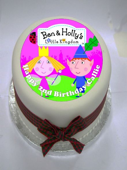 Ben & Holly Edible Cake Topper (option 2)